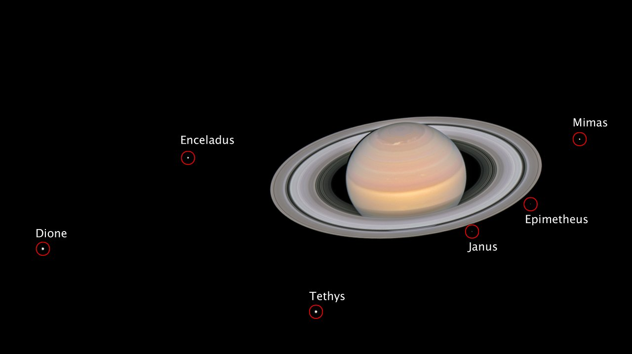 The moons of saturn annotated esahubble the moons of saturn annotated thecheapjerseys Images