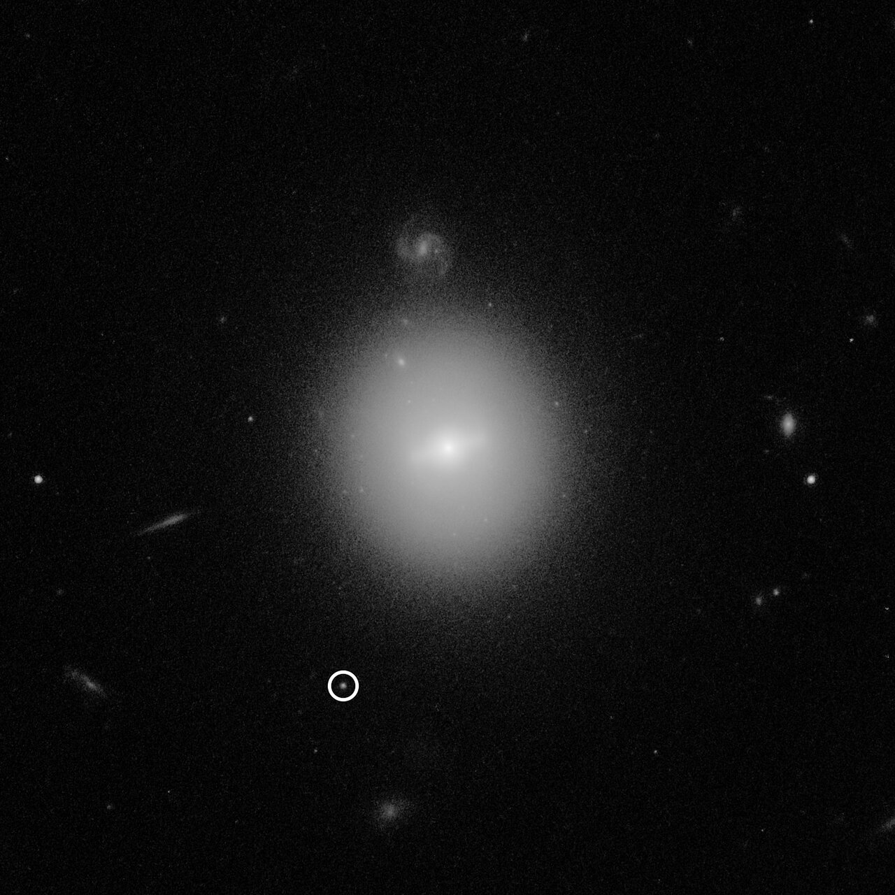 Hubble Observation of Intermediate-Mass Black Hole