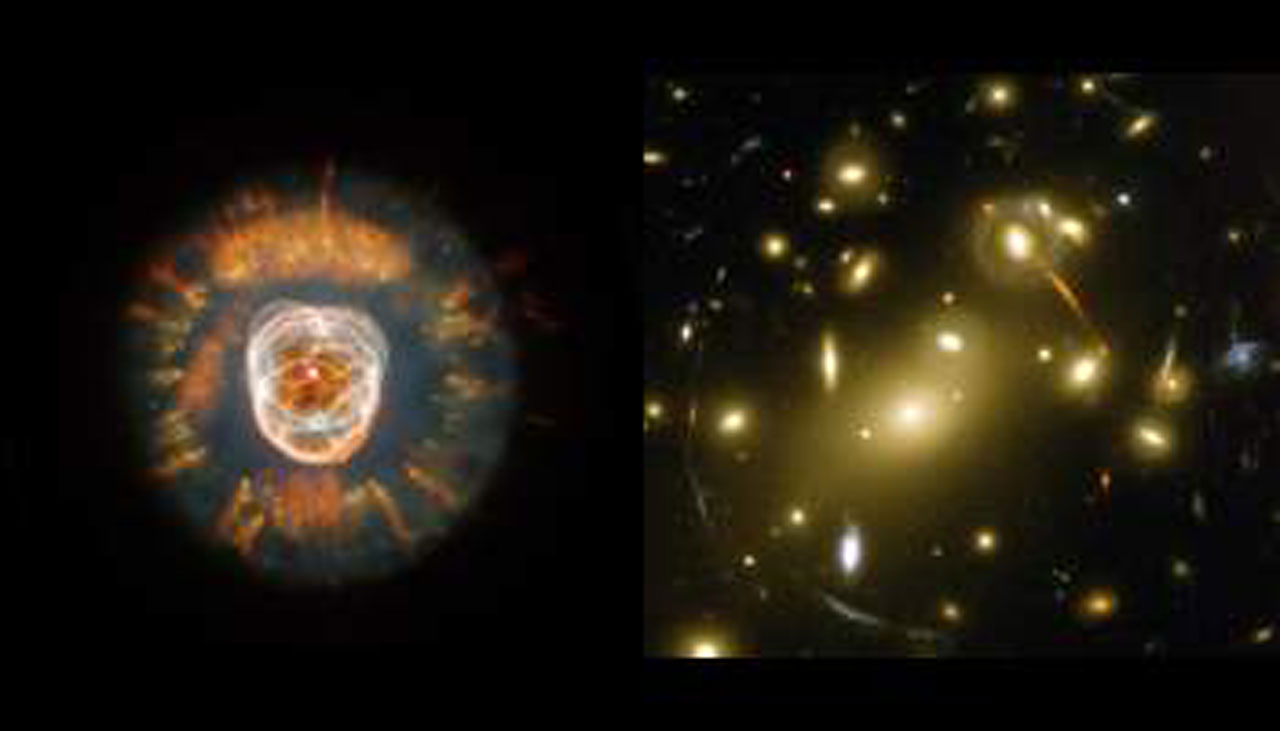 The Eskimo Nebula and Abell 2218