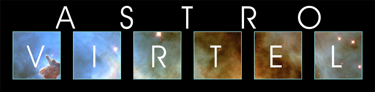 The Logo for ASTROVIRTEL. A New Project created to use Astronomical Archieves as Virtual Telescopes