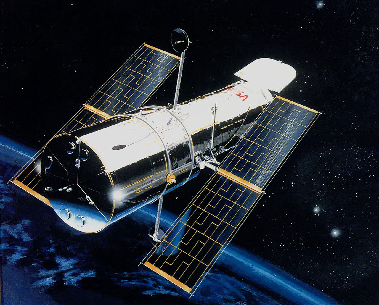 Artist rendition of Hubble