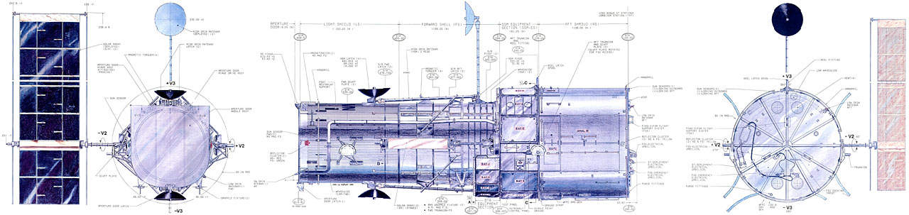 Diagram of the Hubble Space Telescope, 1981