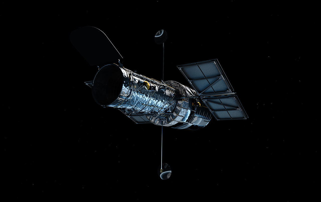 Hubble in orbit (artist's impression)