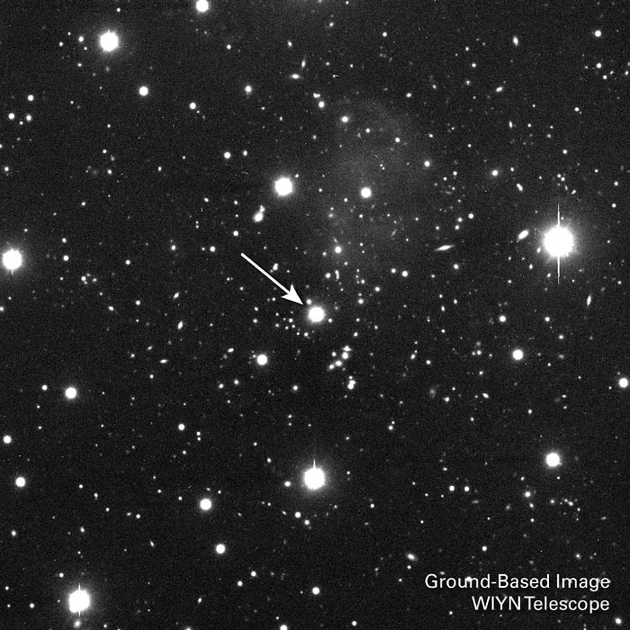 A Distant Quasar's Brilliant Light