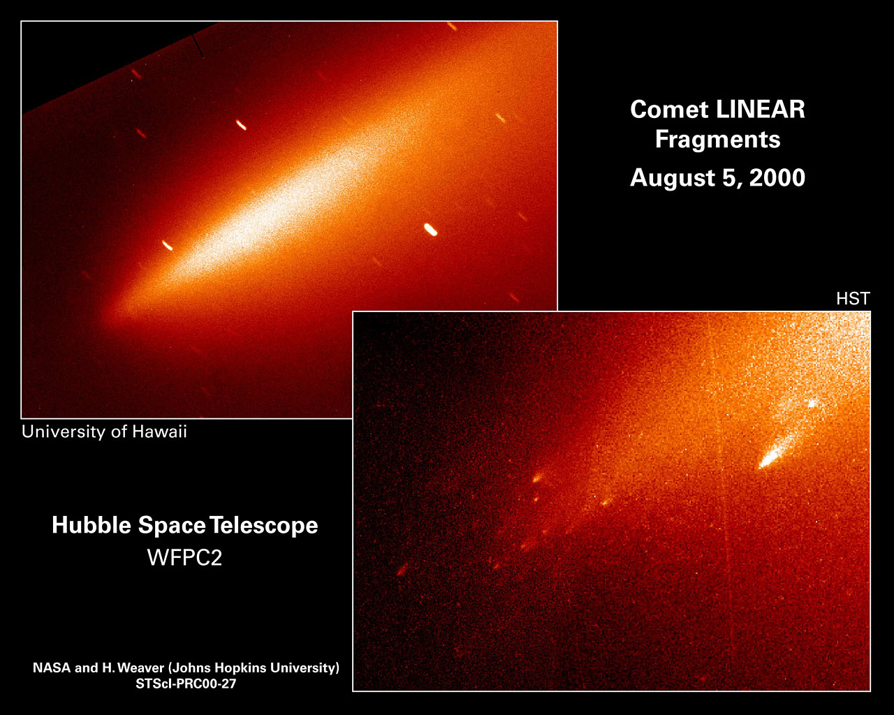 Comet Linear Fragments