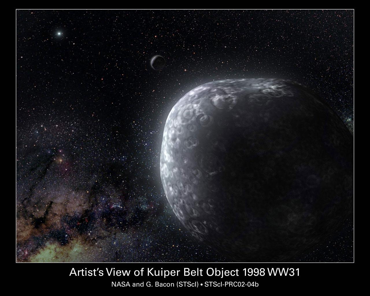 Artist's View of Kuiper Belt Object 1998 WW31