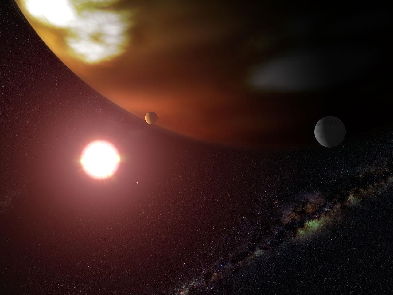 Hubble Makes Precise Measure of Extrasolar World's True Mass (artist's impression)