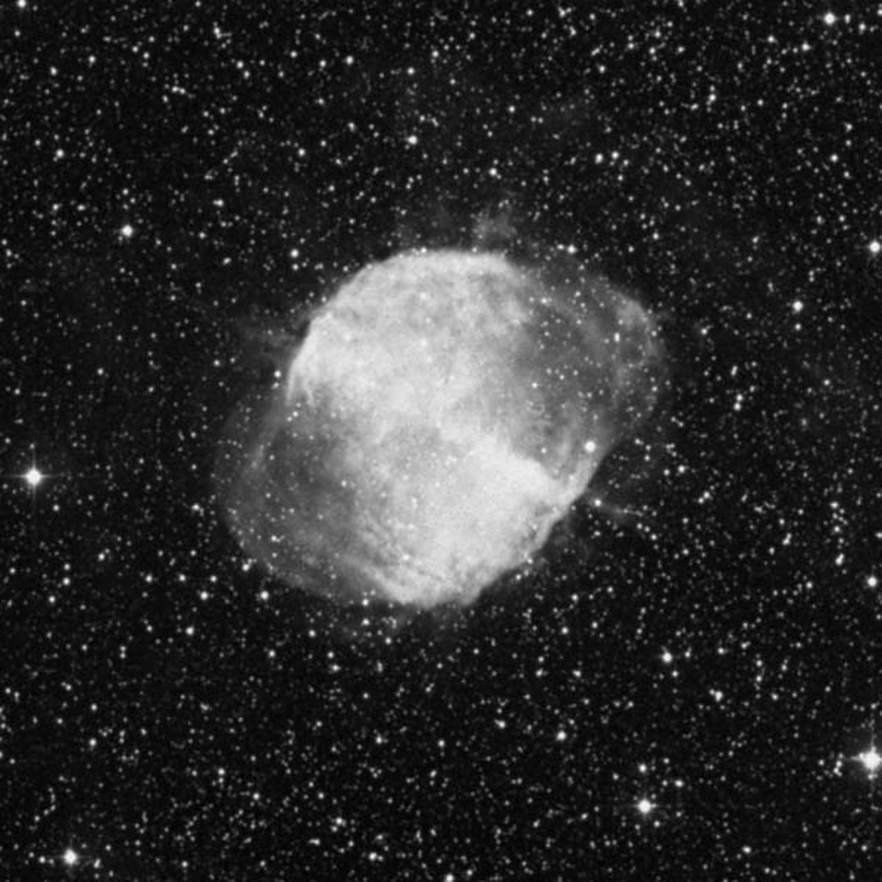 DSS Image of Dumbbell Nebula (ground-based image)