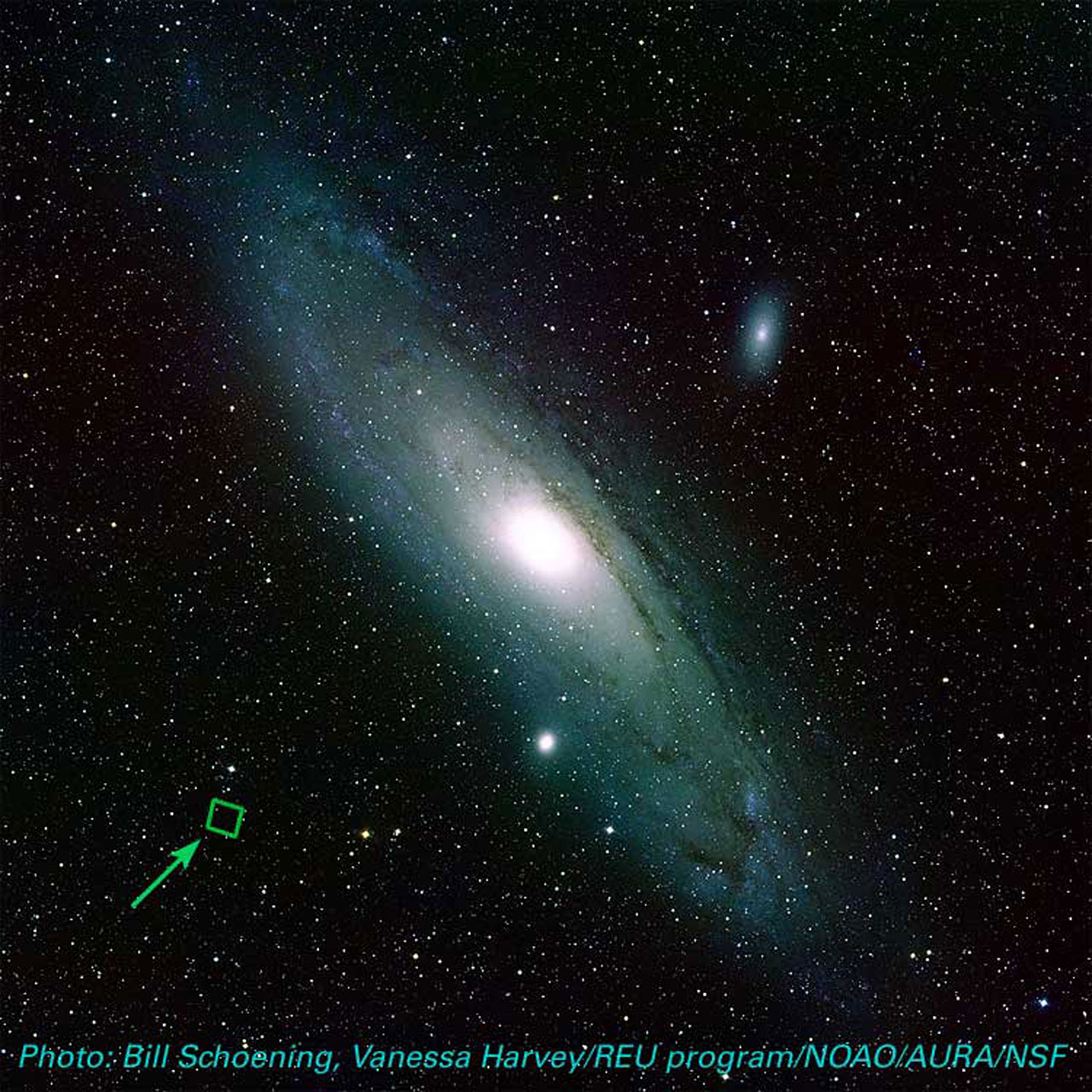 Location of ACS Image in M31 (ground-based image)