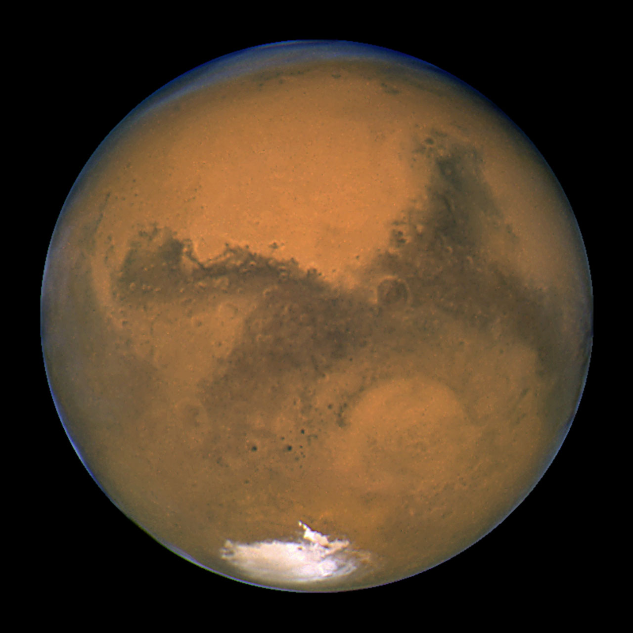 Mars Hubble Telescope Hubble's Closest View of Mars