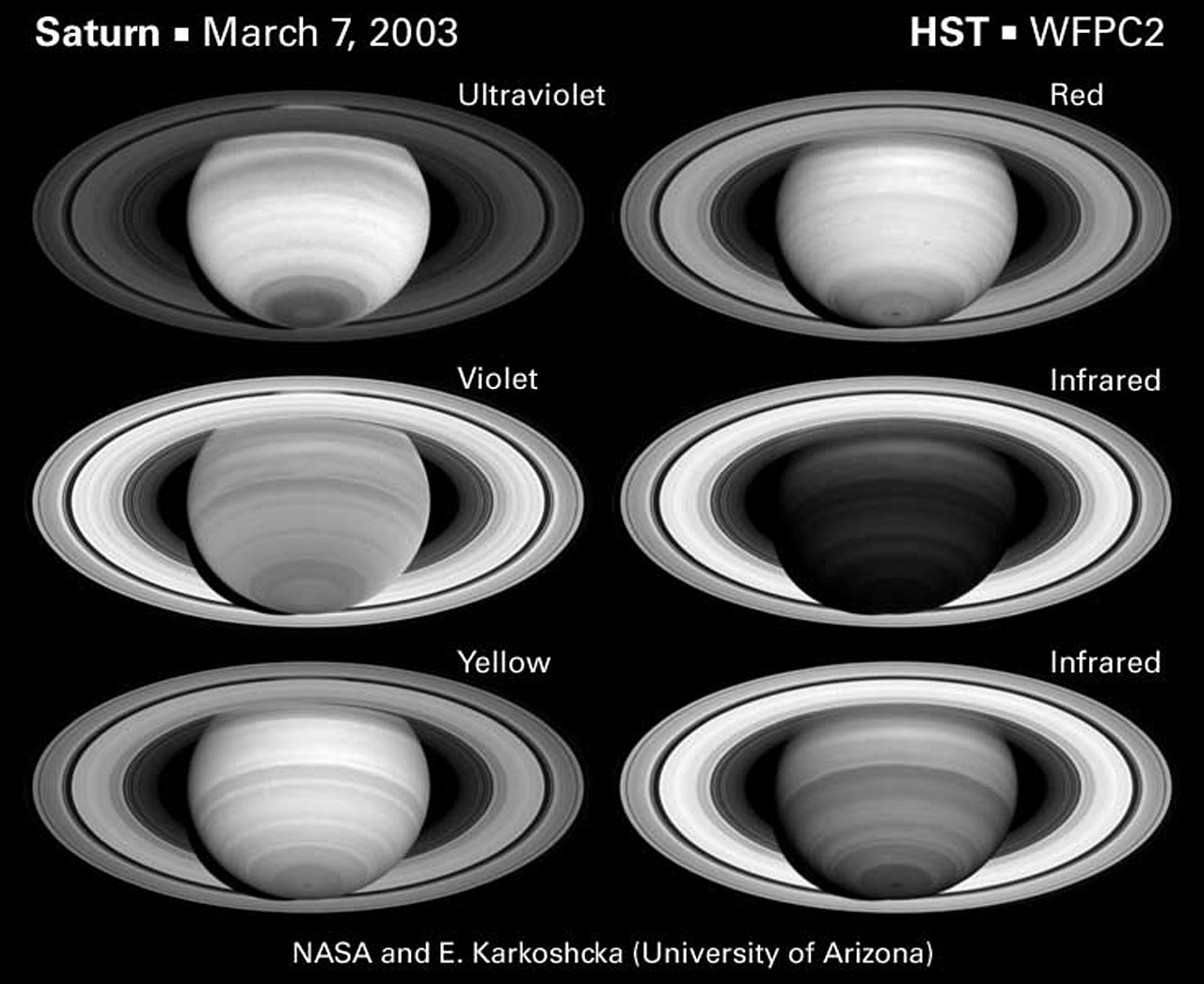 The Spectrally Changing Face of Saturn