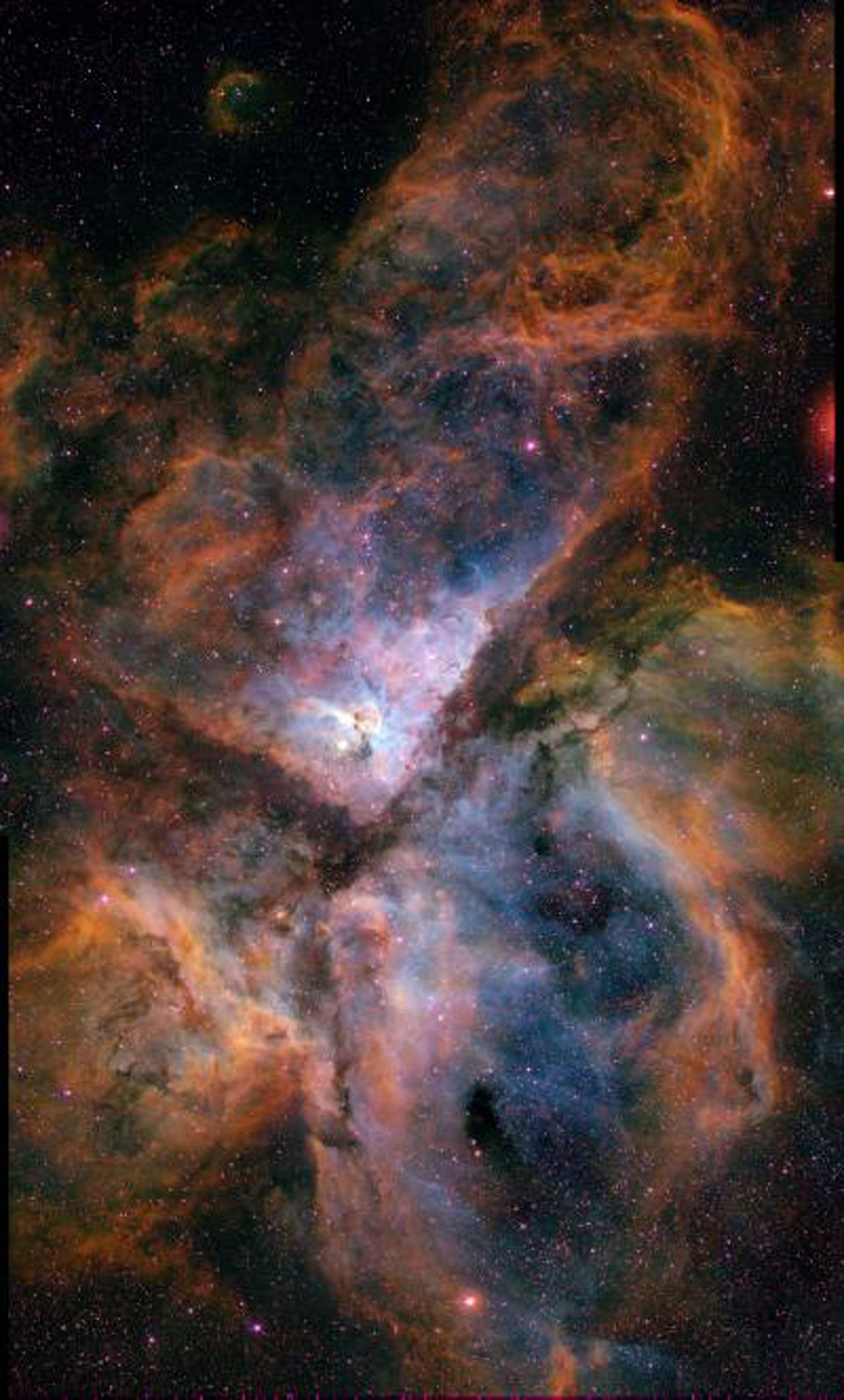 Ground-Based Image of Carina Nebula (NGC 3372)