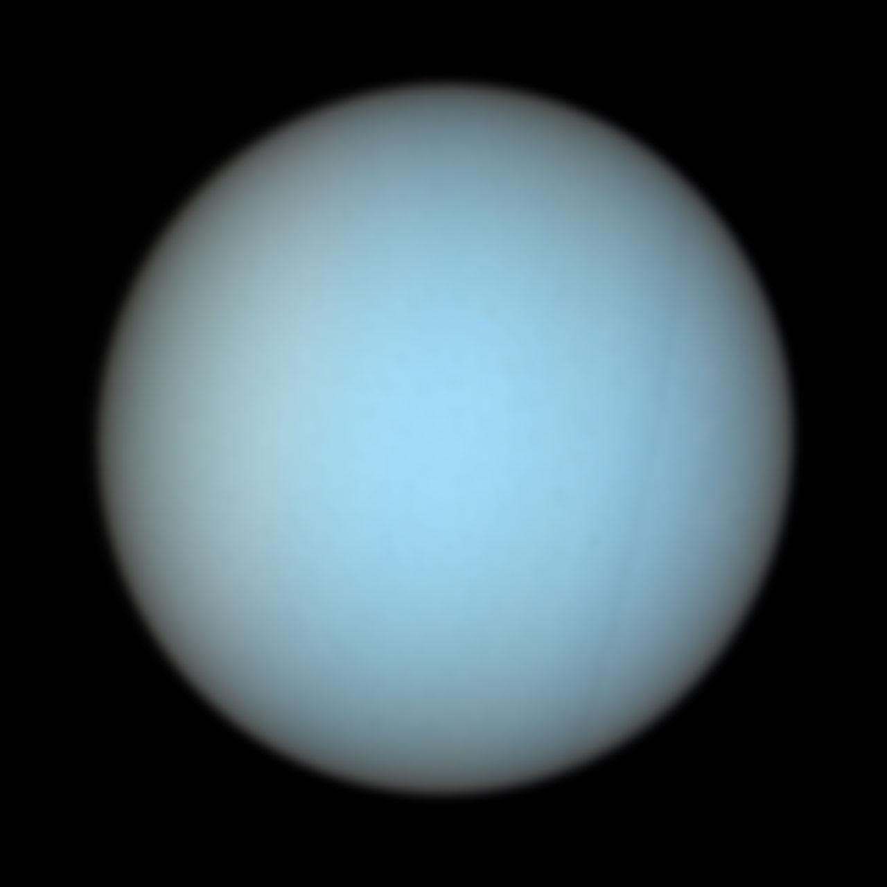 Uranus In Natural Colors Esa Hubble