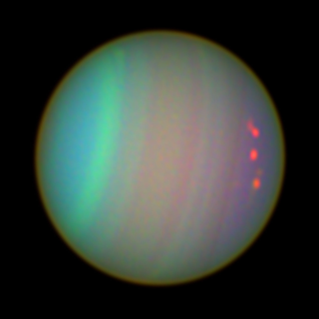 Uranus as Seen with colour Filters