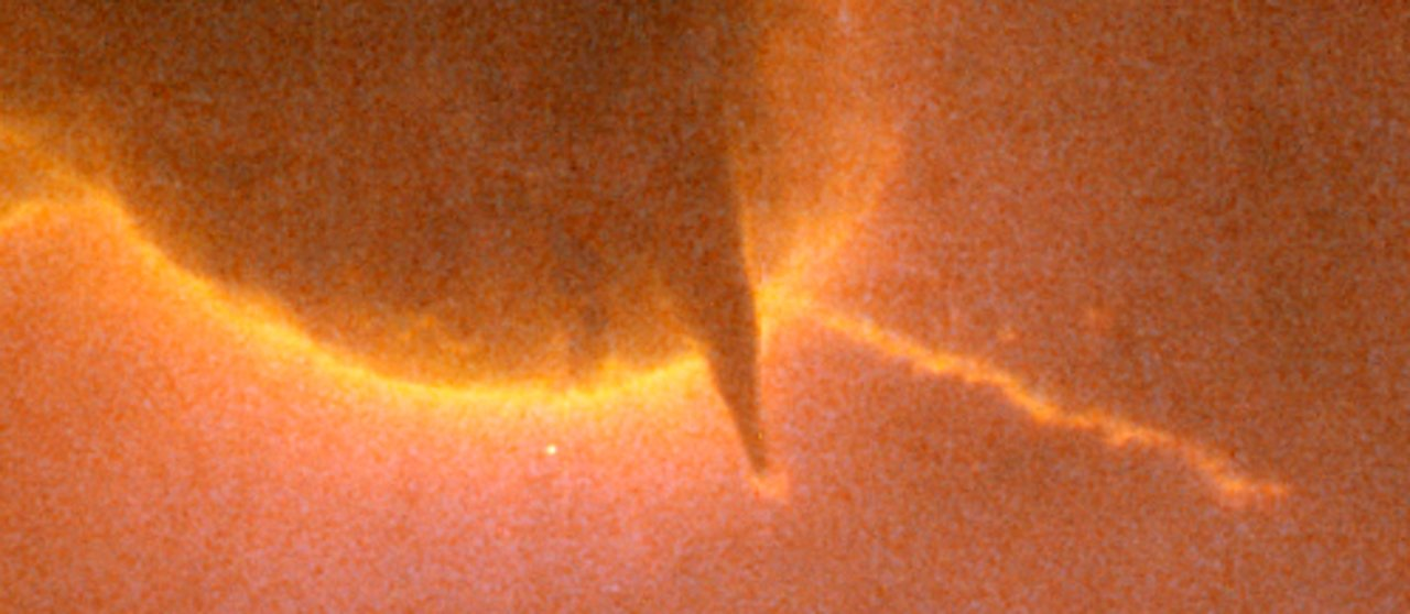 Closeup of Jet in Trifid Nebula