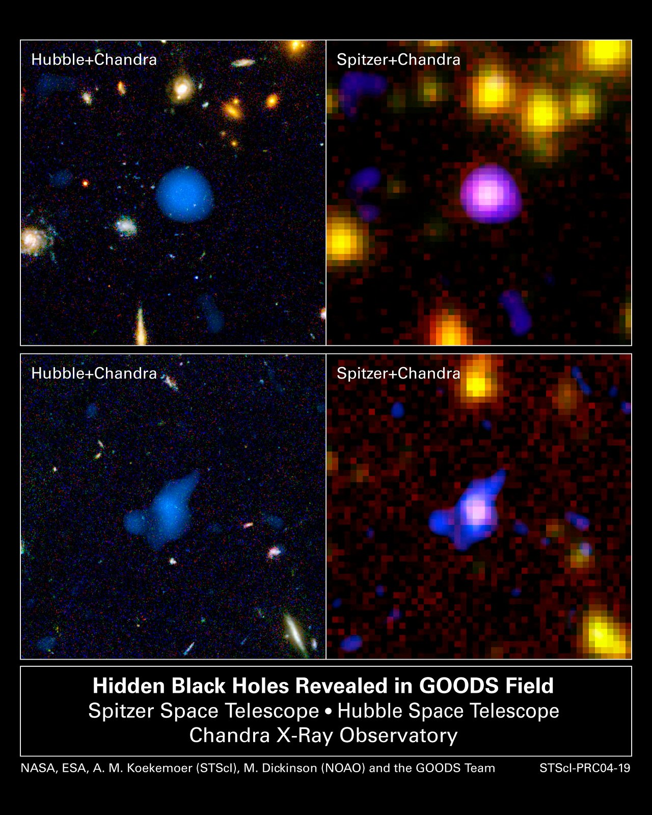 Hidden Black Holes Revealed in GOODS Field