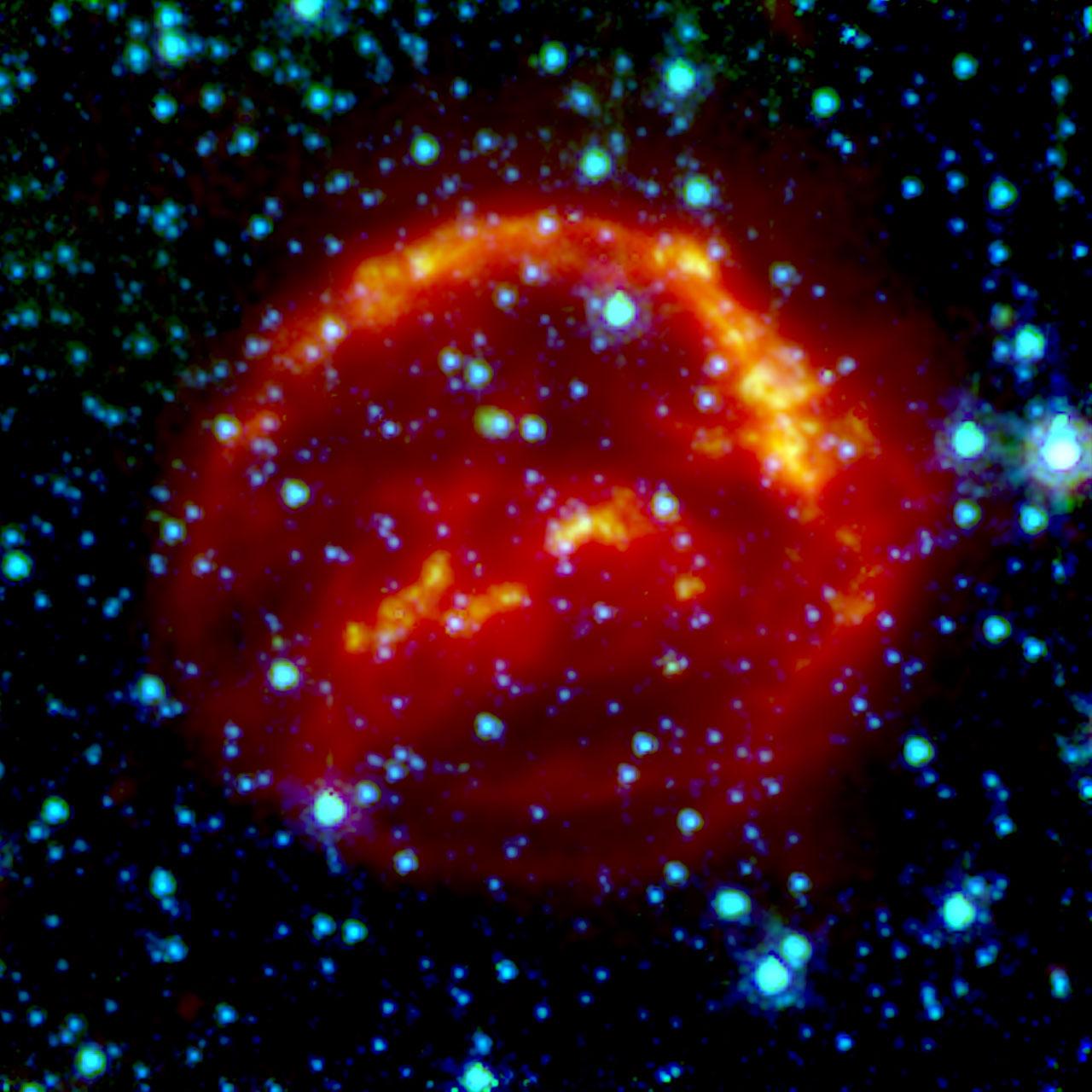 Spitzer Space Telescope: Kepler's Supernova Remnant (infrared data)