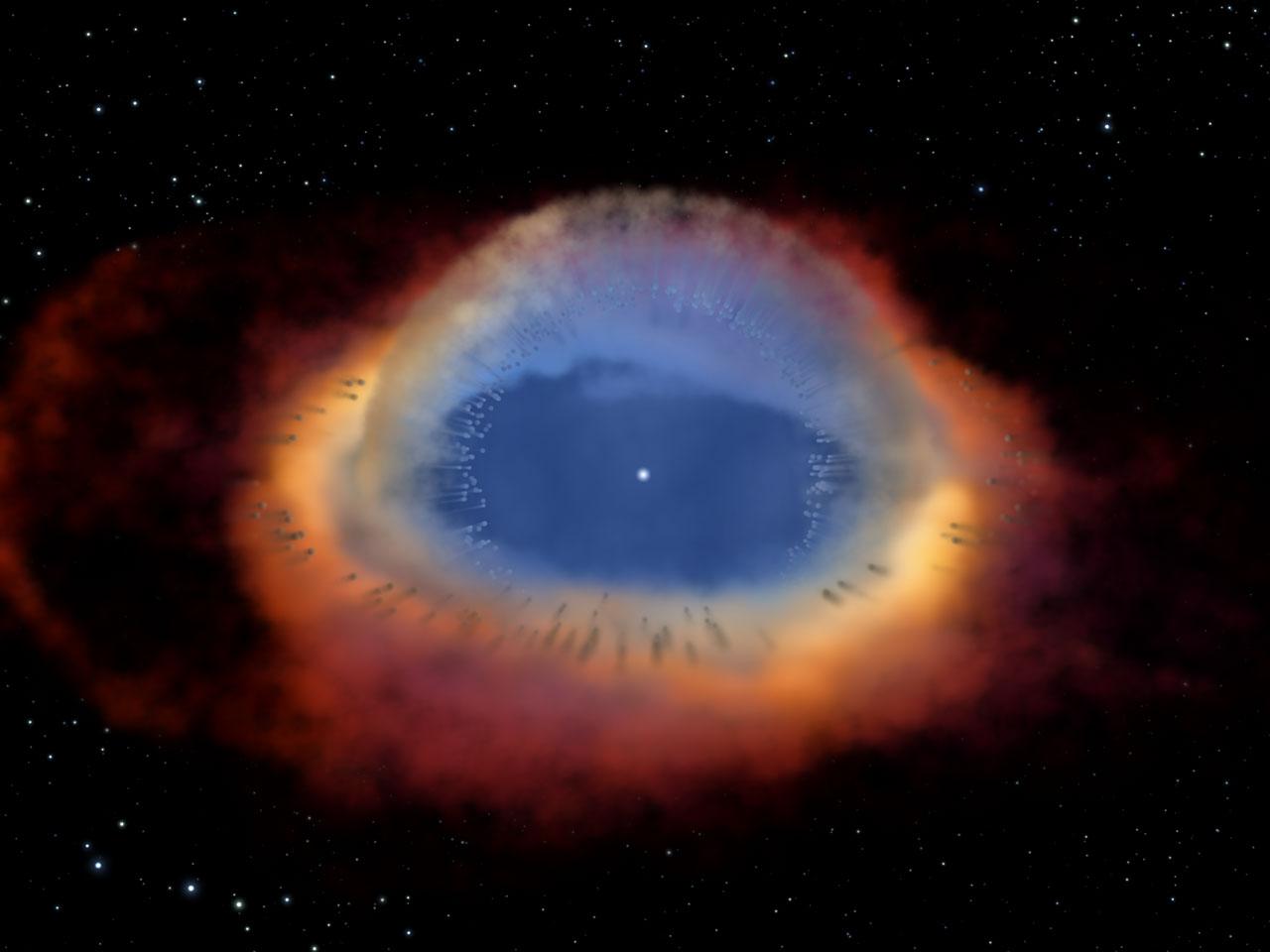 Helix Nebula Model (artist's impression)