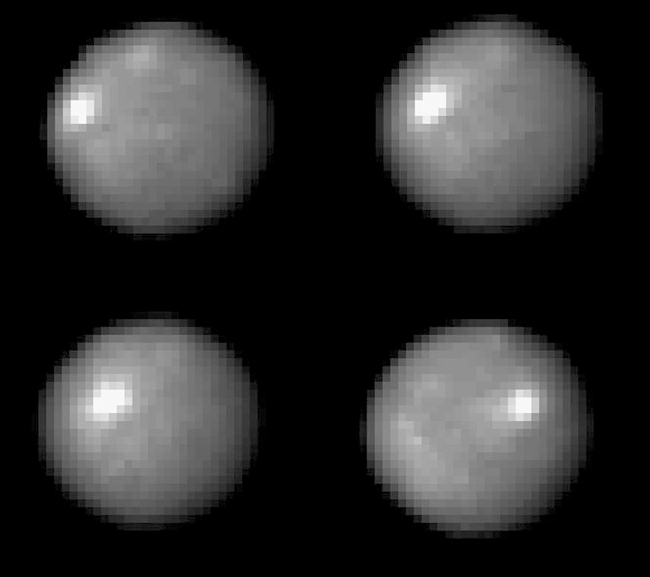 Hubble tracks Ceres