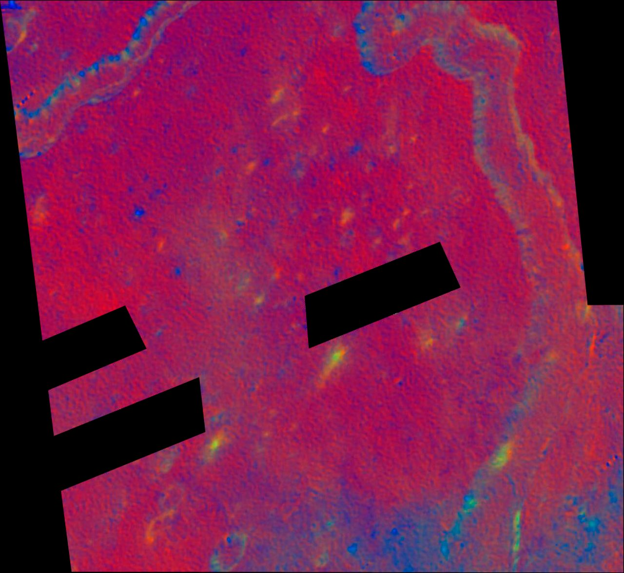 Schroter's Valley Rille in False Color