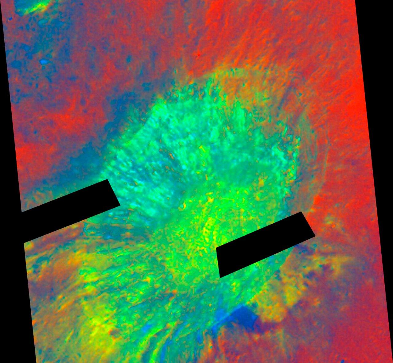 Aristarchus Crater in False Color