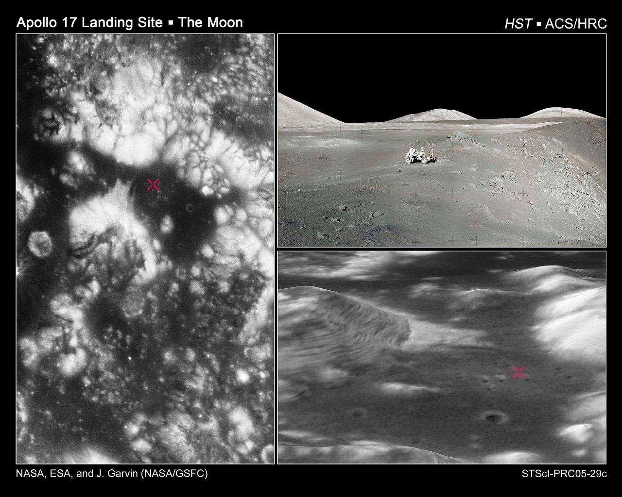 Apollo 17 Landing Region