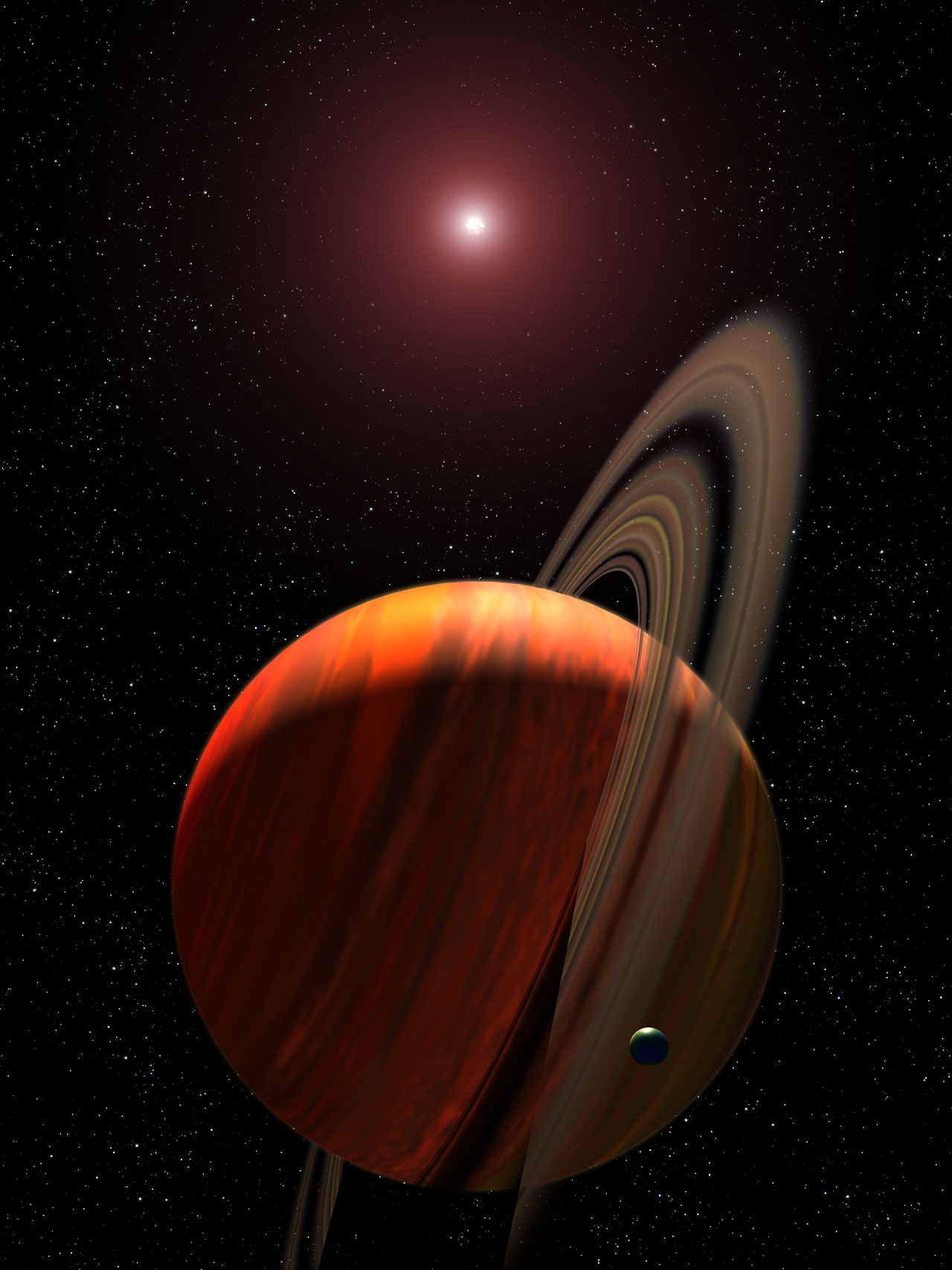 Artist's View of Planet Around a Red Dwarf