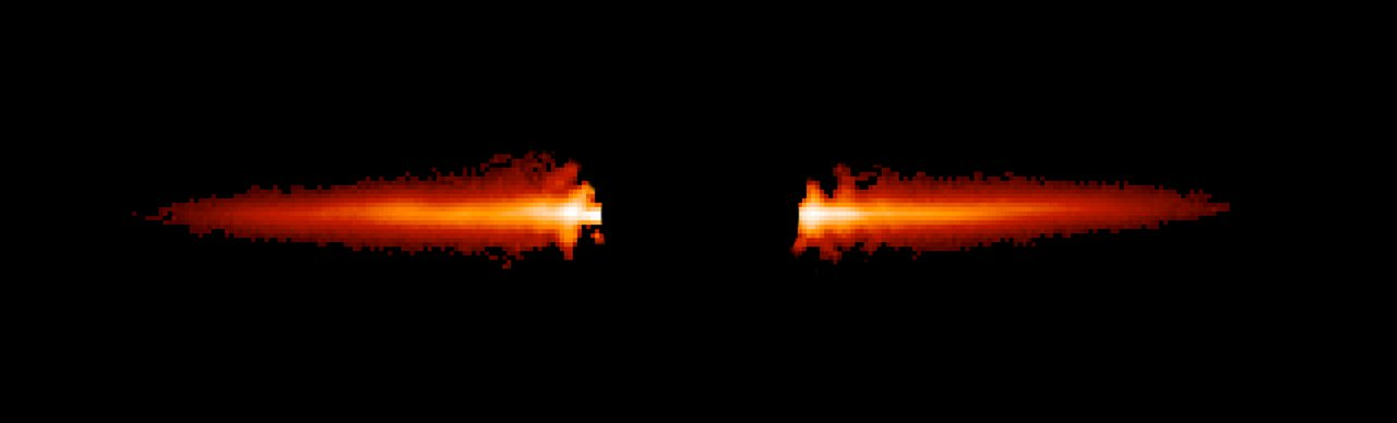 Hubble's Snapshot of Debris Disk Around Young Star - Unannotated