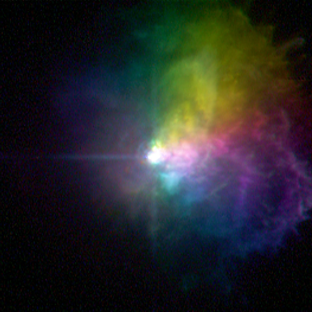 Massive Star VY Canis Majoris - Polarized Light
