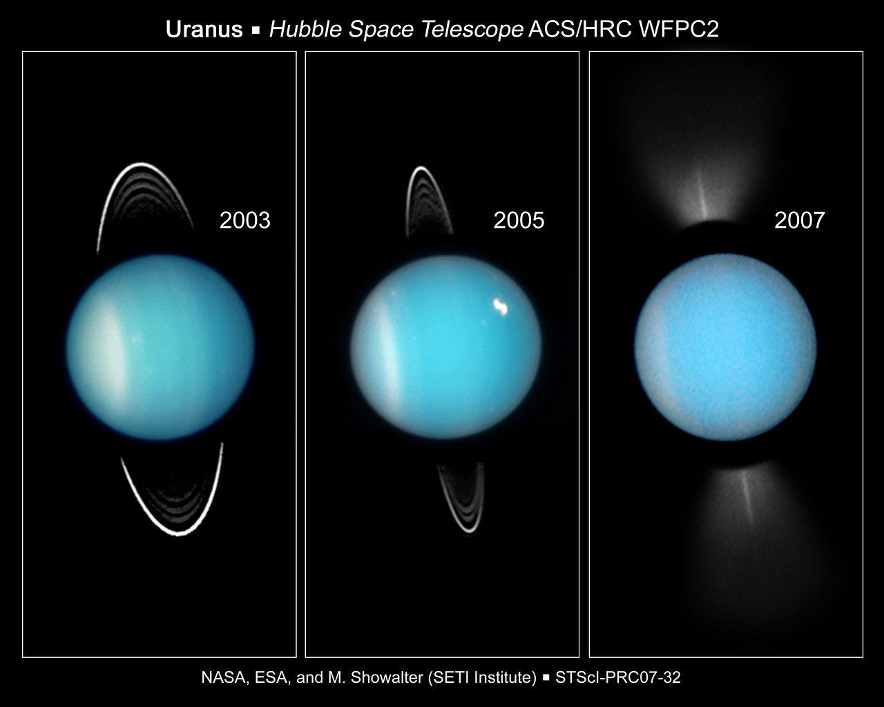 Going, Going, Gone: Hubble Captures Uranus' Rings on Edge