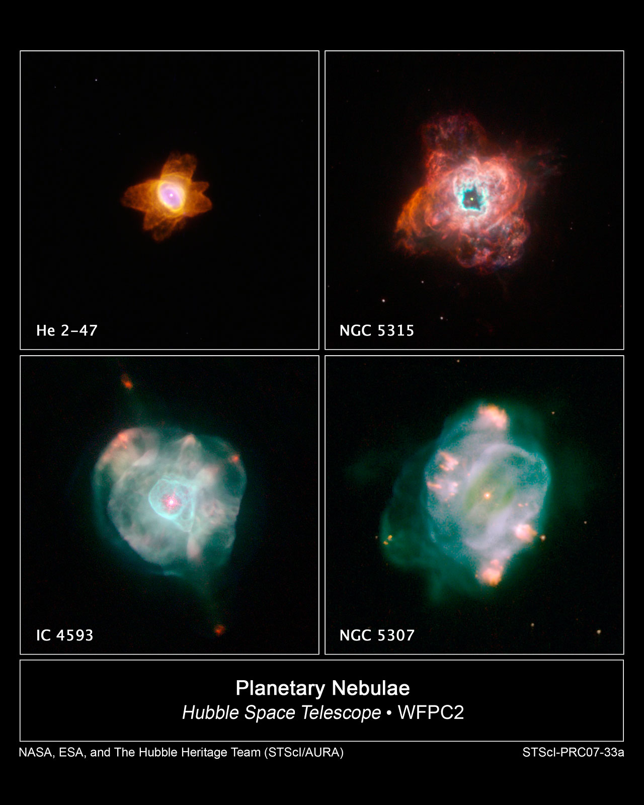 Hubble Captures Stars Going Out in Style