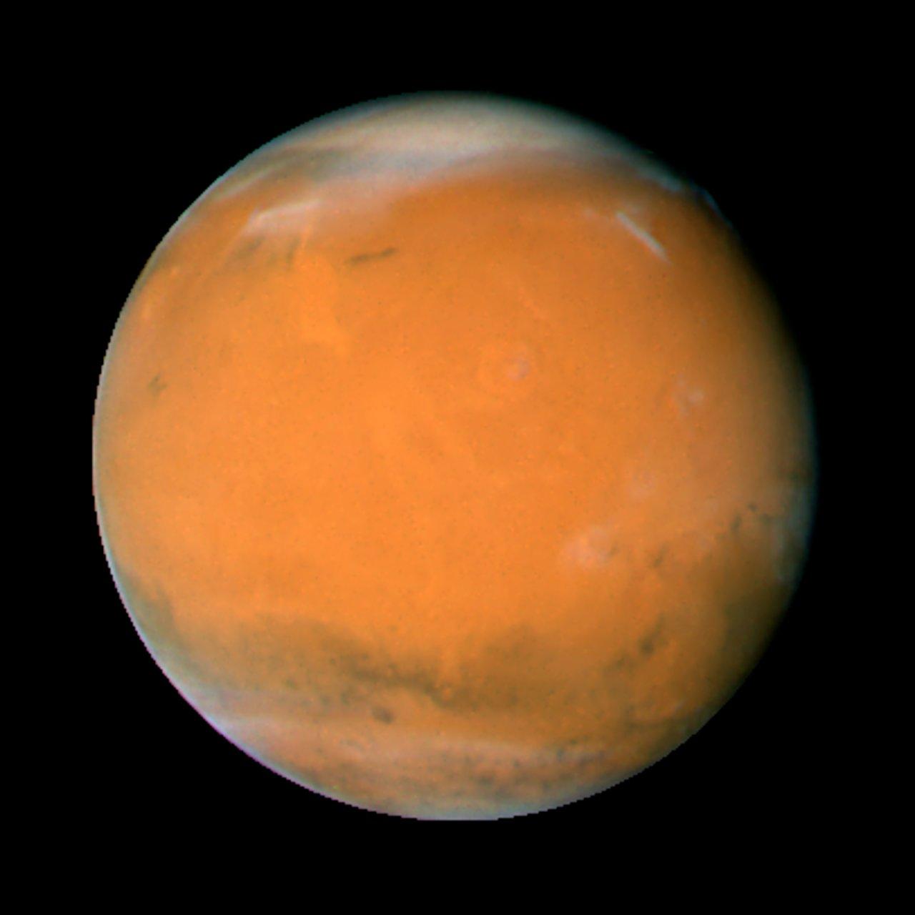 Mars on Dec. 3, 2007; longitude ~225 degrees