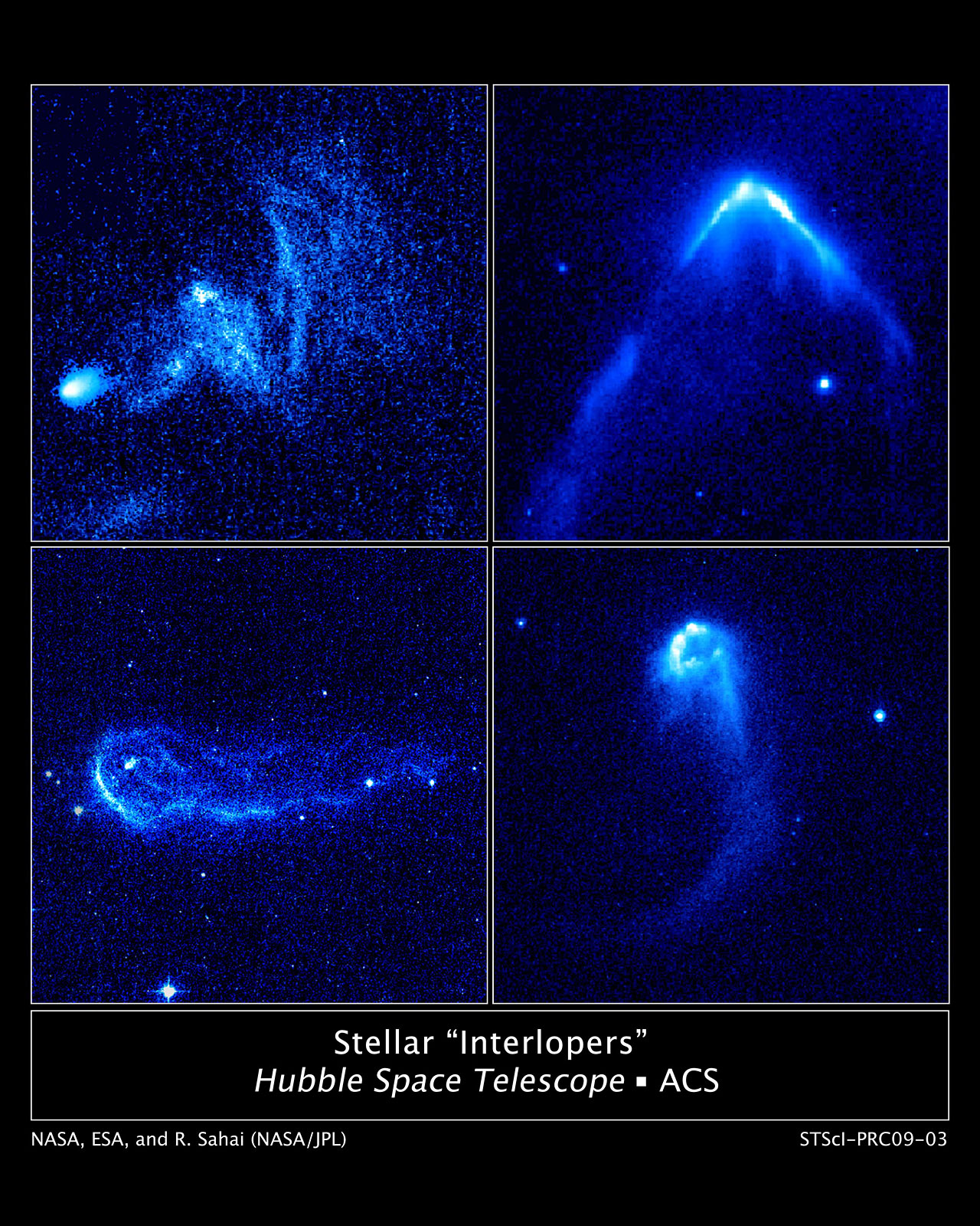Stellar interlopers caught speeding through space