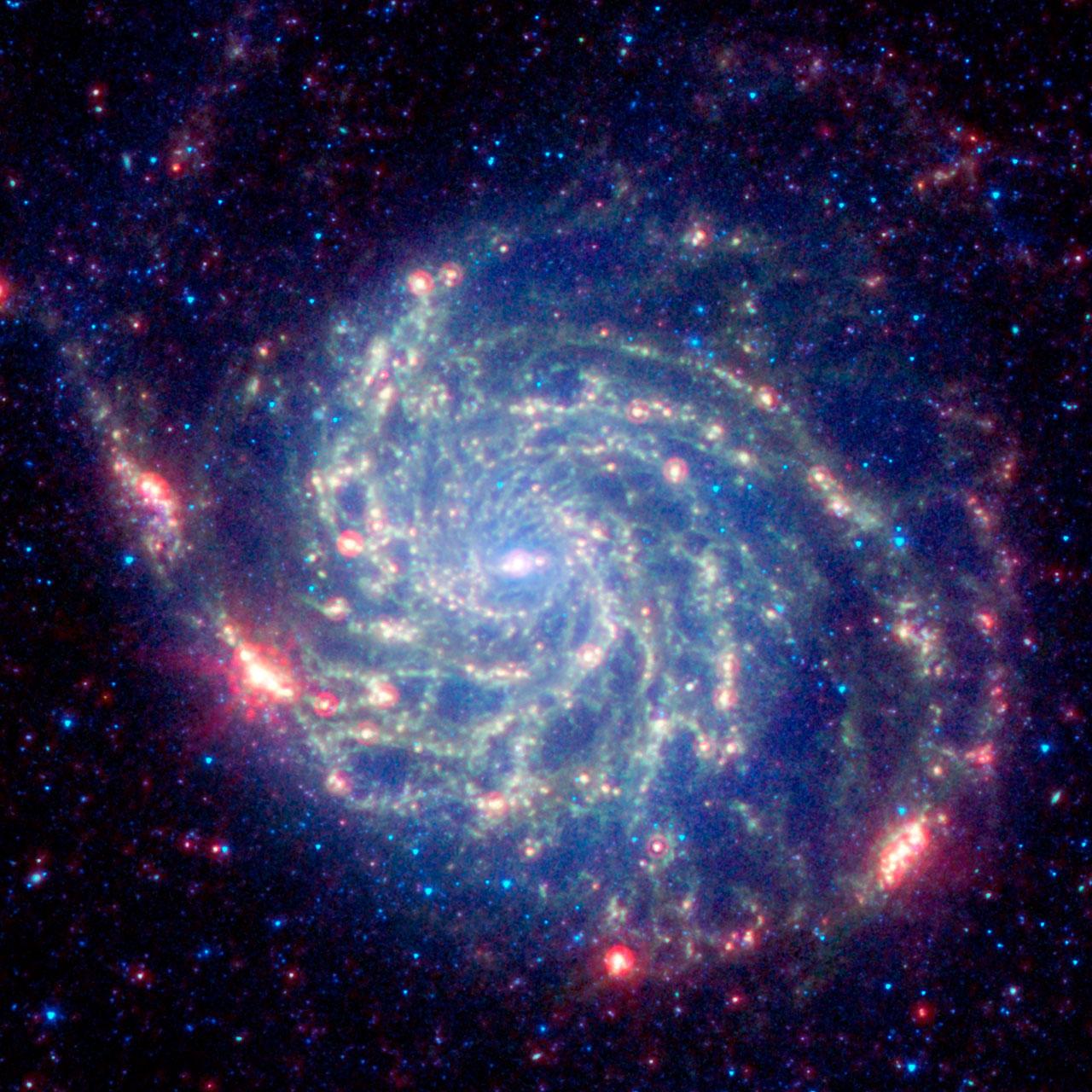 Spitzer image of M101