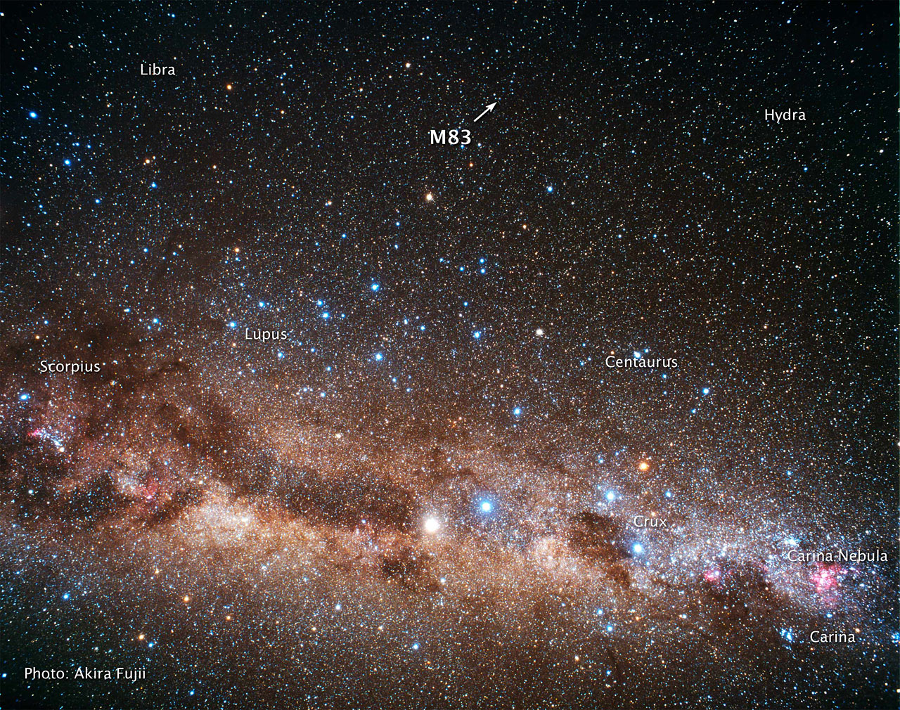 Ground-based image of Sky Around M83 (ground-based image)