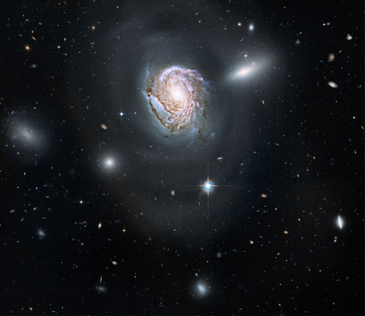 Spiral galaxy NGC 4911 in the Coma Cluster