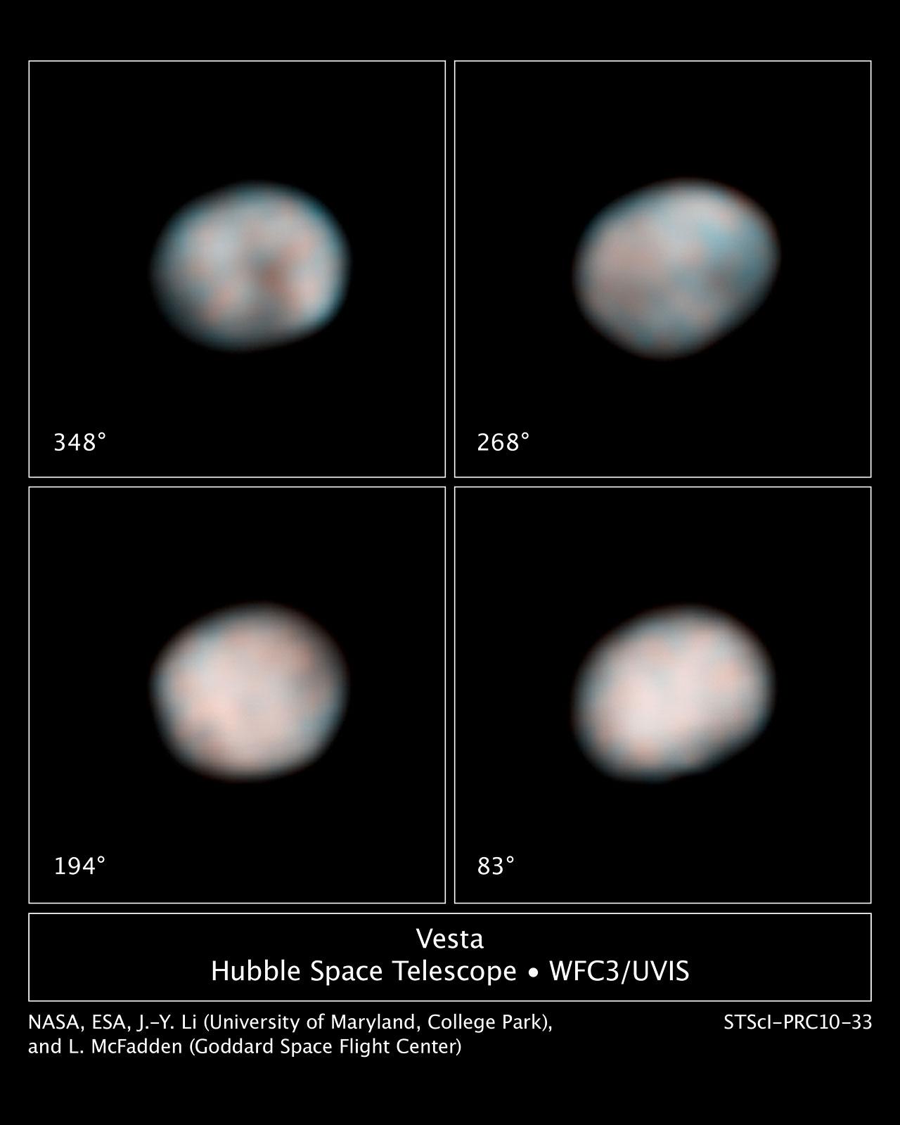 The faces of Vesta