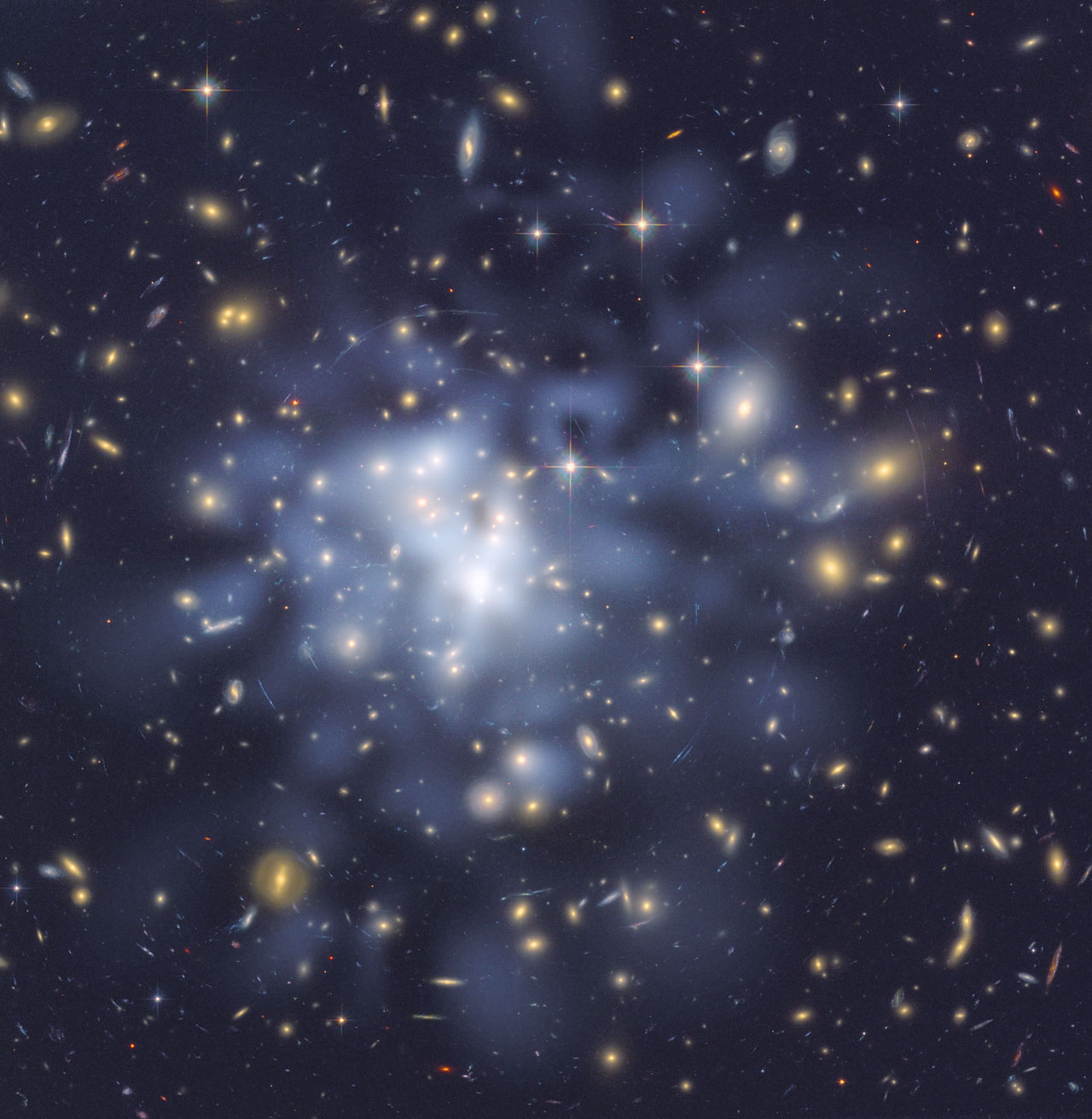 Hubble helps astronomers map dark matter in Abell 1689