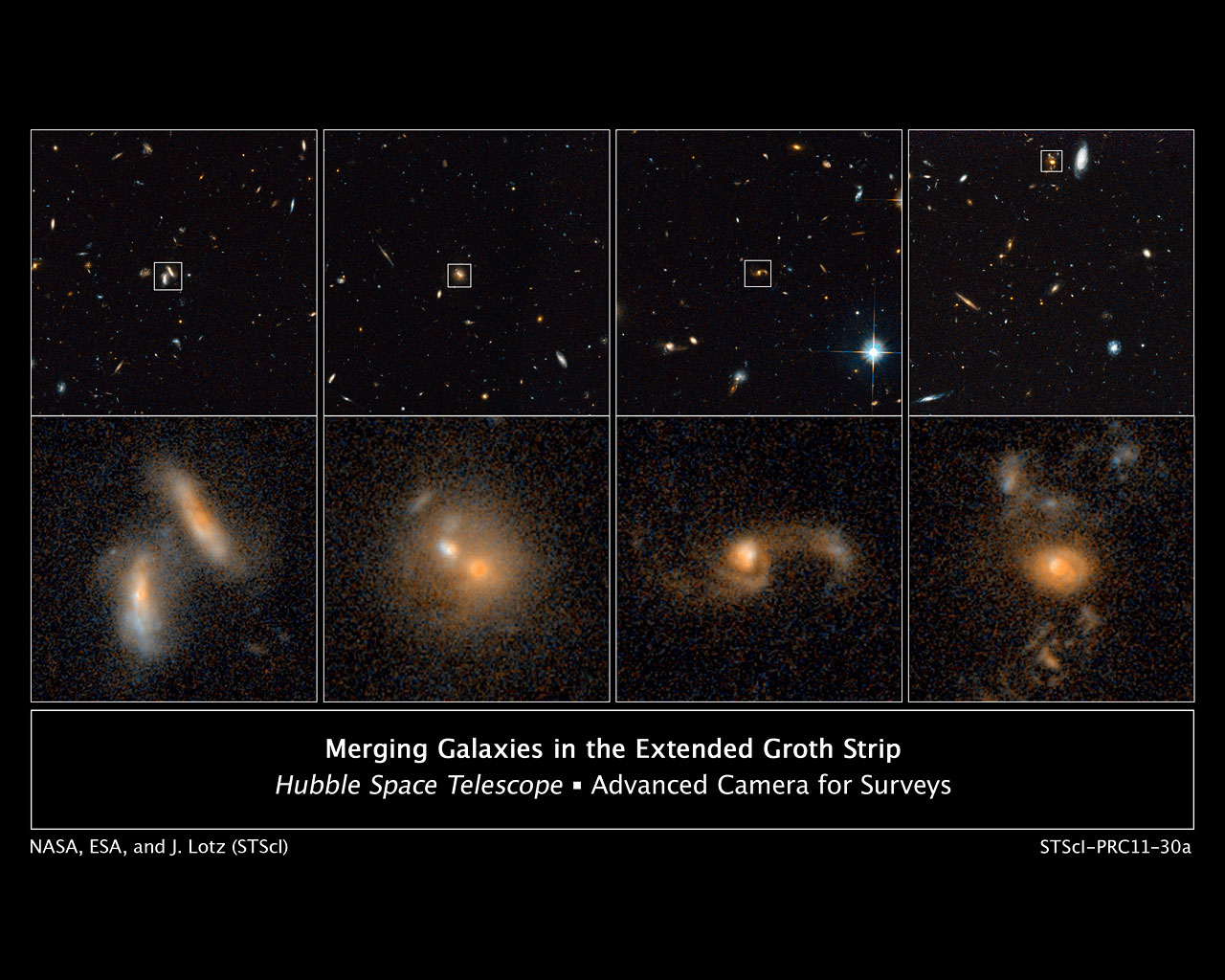 Merging galaxies in the Extended Groth Strip