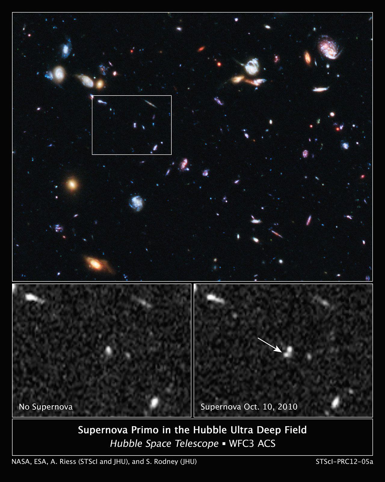 Hubble snags one of the farthest exploding stars