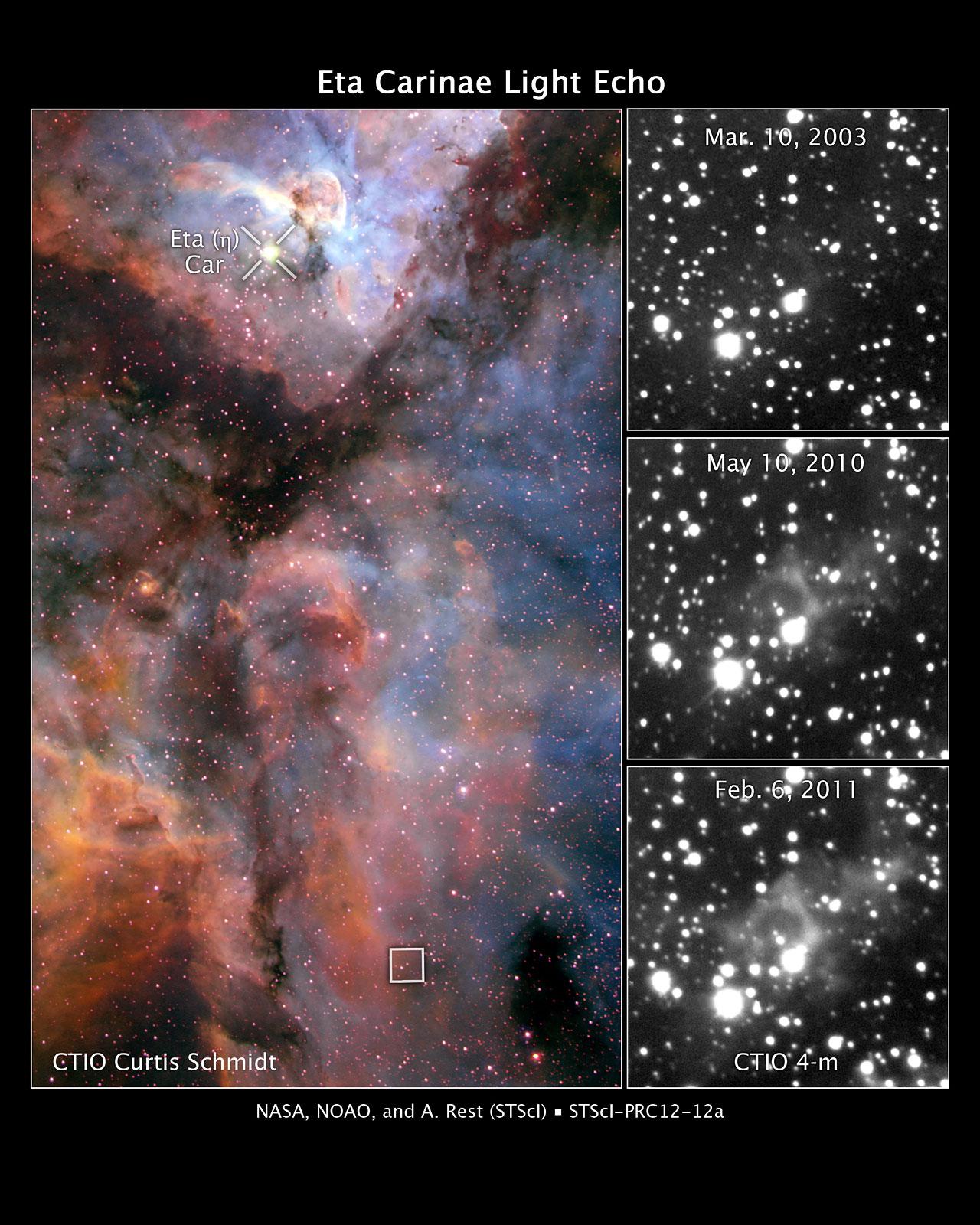 Eta Carinae light echo