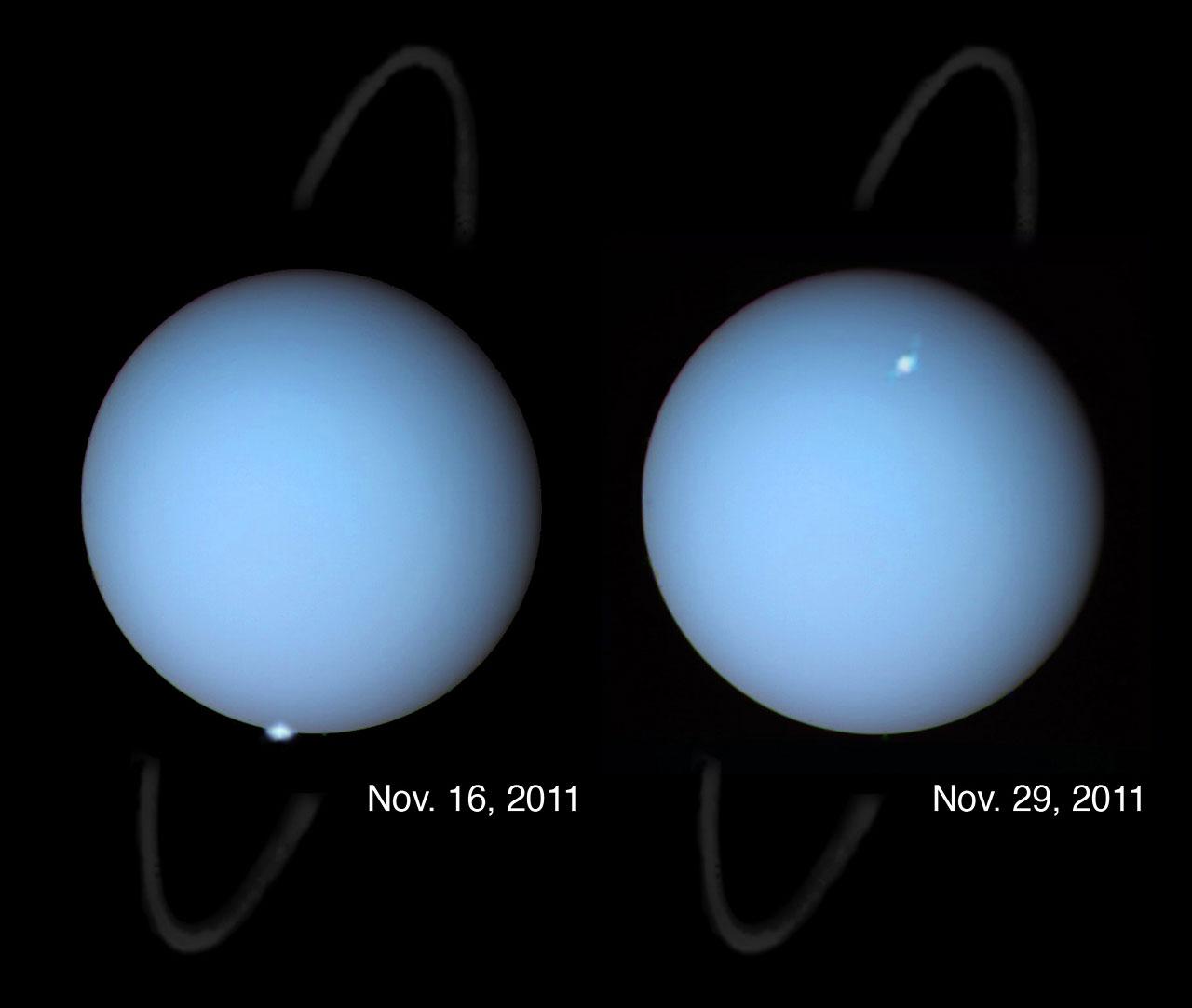 Hubble spots aurorae on the planet Uranus