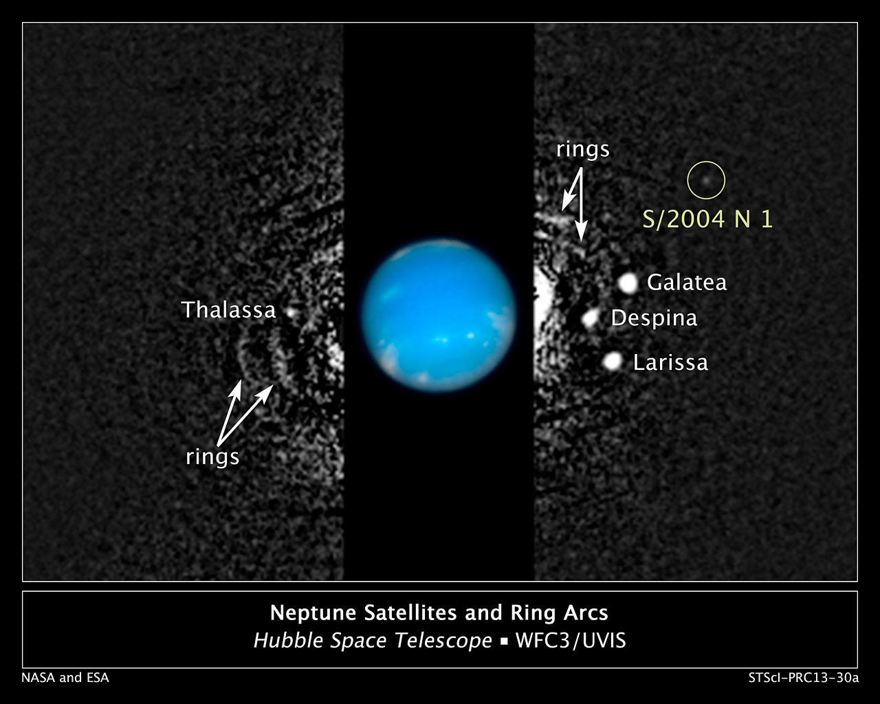 Hubble finds new moon orbiting Neptune