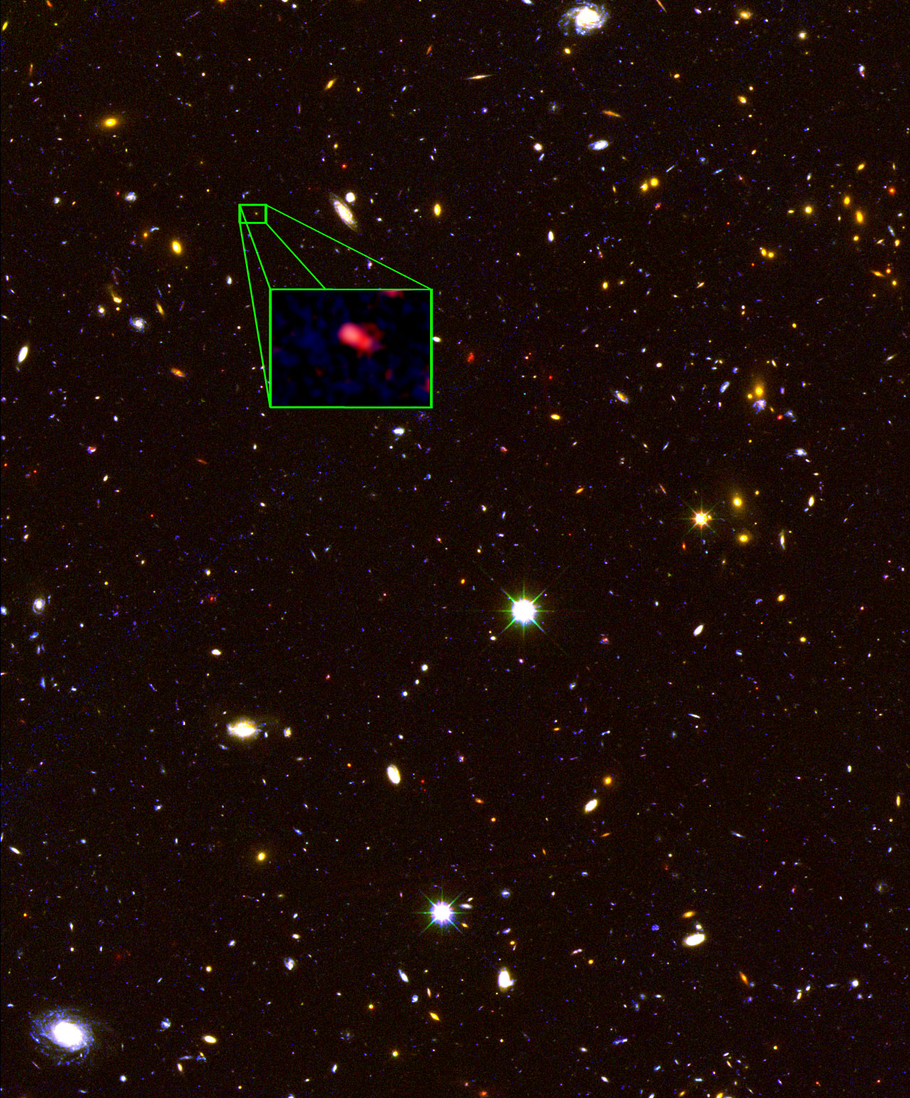 New Hubble CANDELS image of most distant known galaxy z8_GND_5296