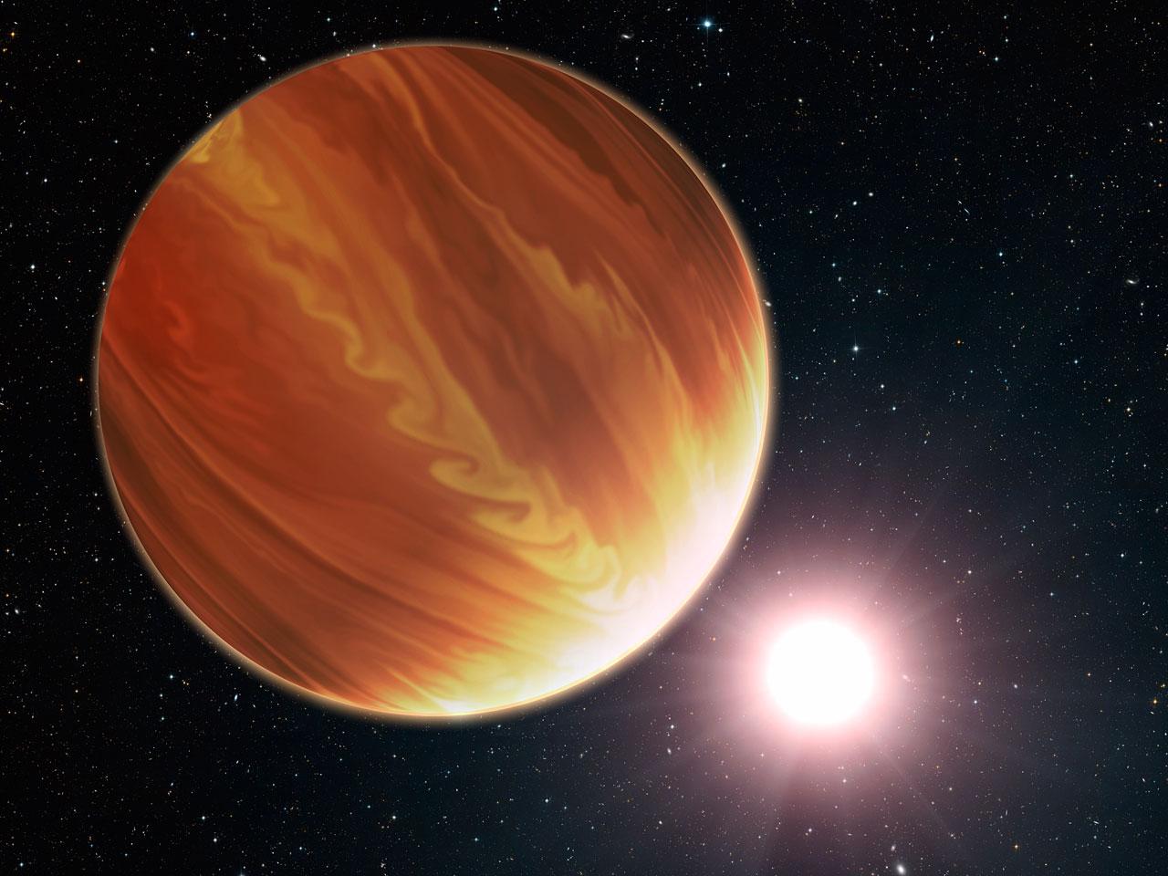 Artist's impression of the hot planet Osiris