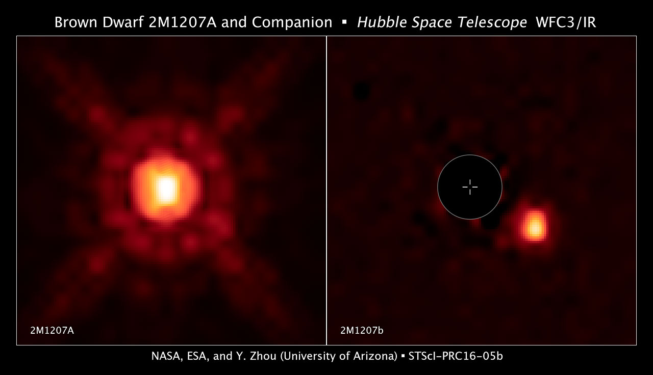Brown Dwarf 2m1207a And Companion Esa Hubble