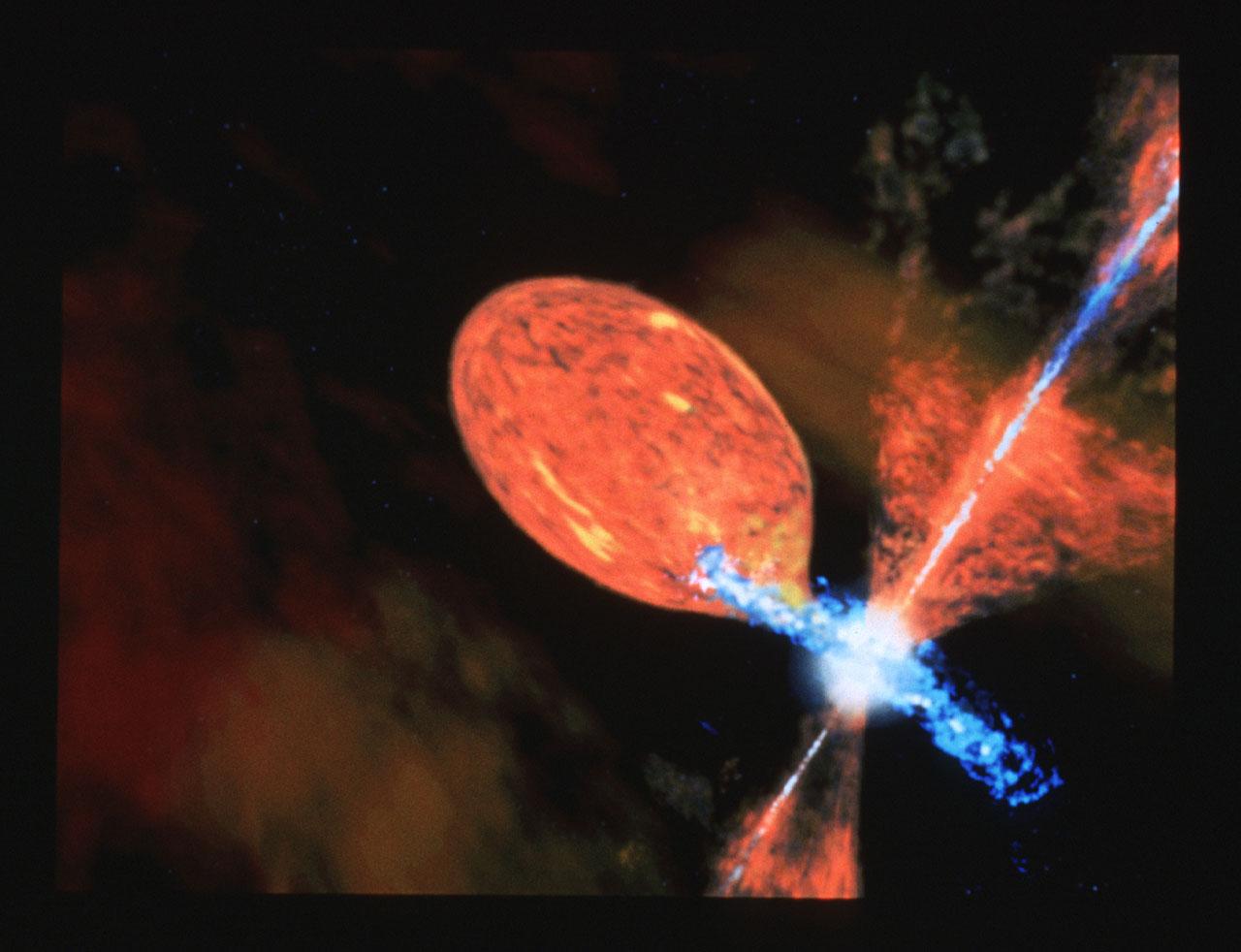 Symbiotic Star R Aquarii (artist's impression)