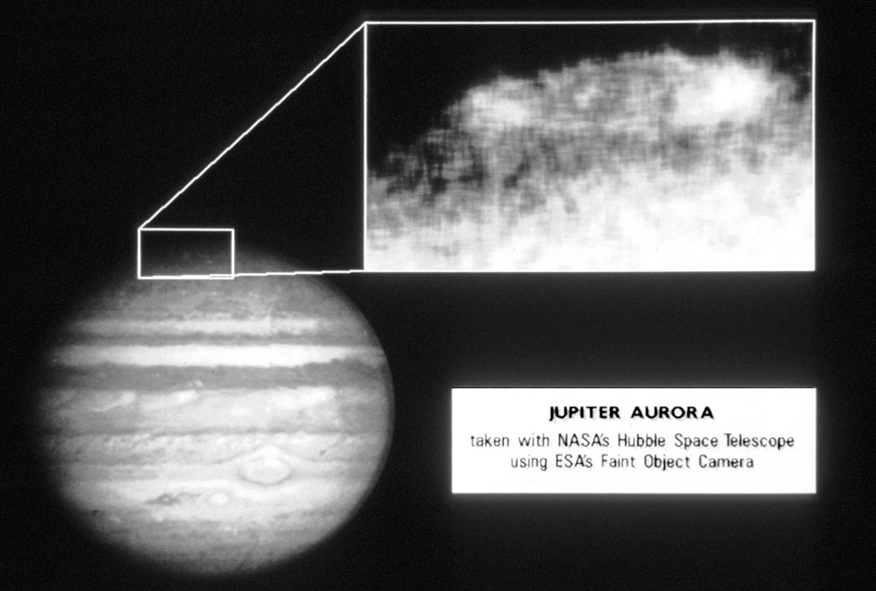 NASA Hubble Space Telescope Photographs Jupiter Aurora