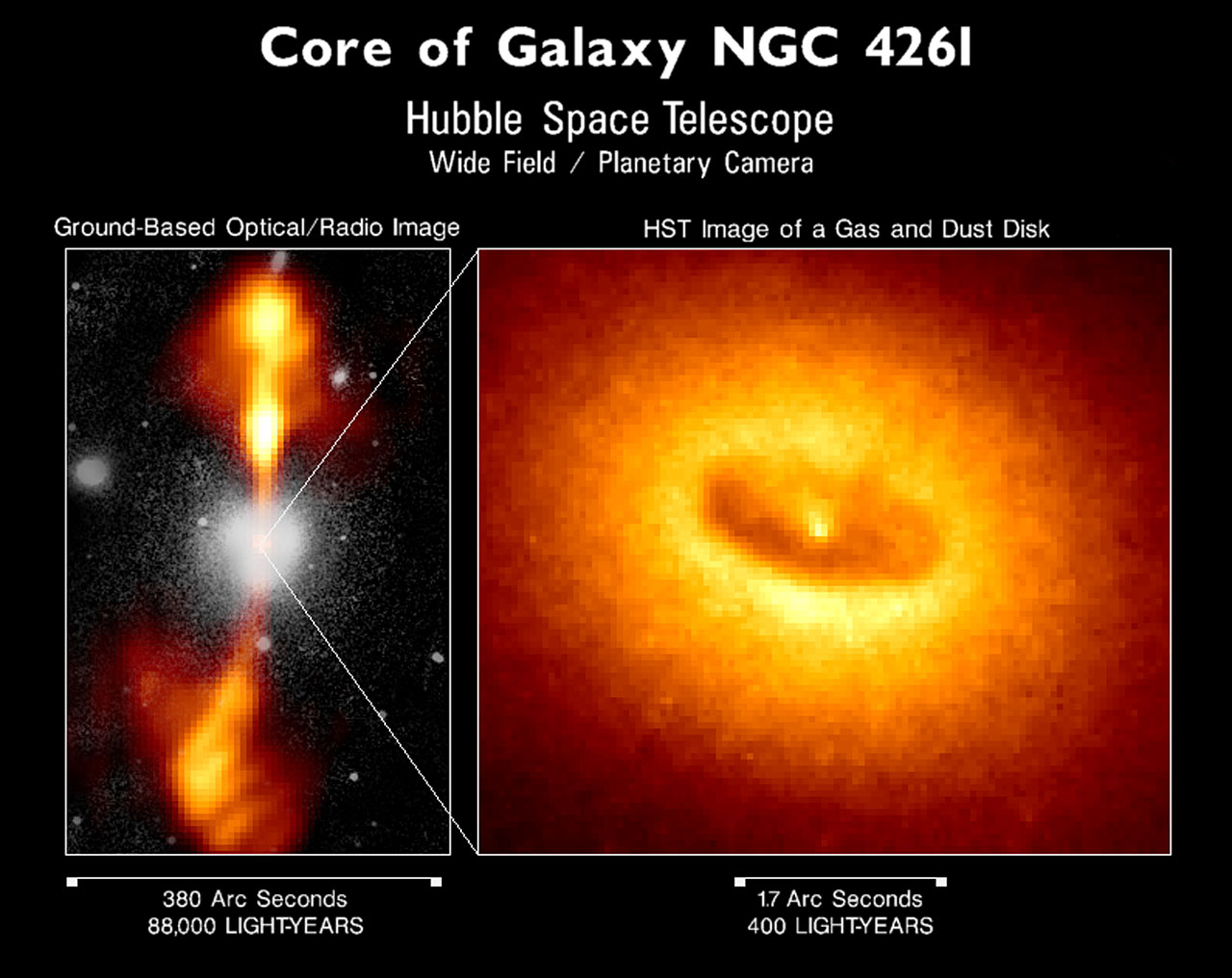 Core of Galaxy NGC 4261