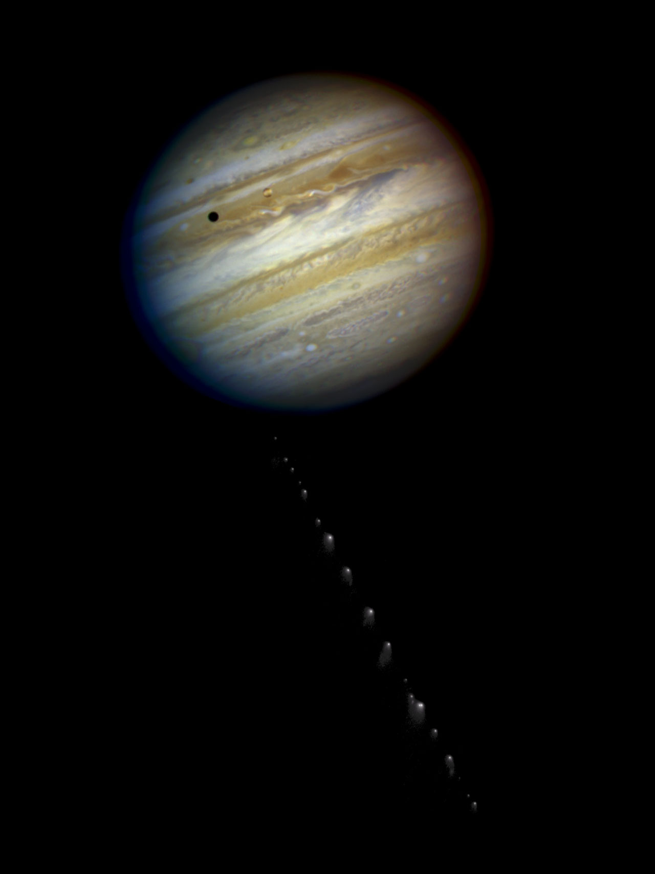 The String of Pearls heading for Jupiter